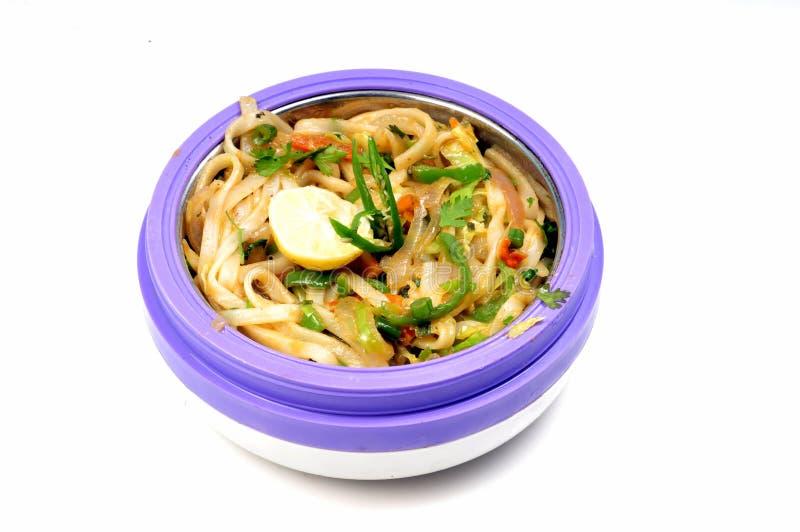 kryddigt thai för nudlar arkivfoton