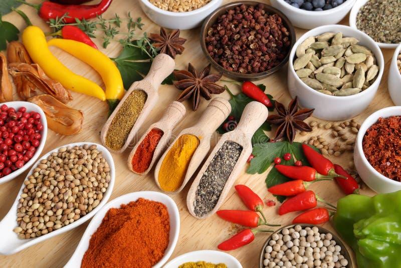 Kryddor och örtar royaltyfri foto