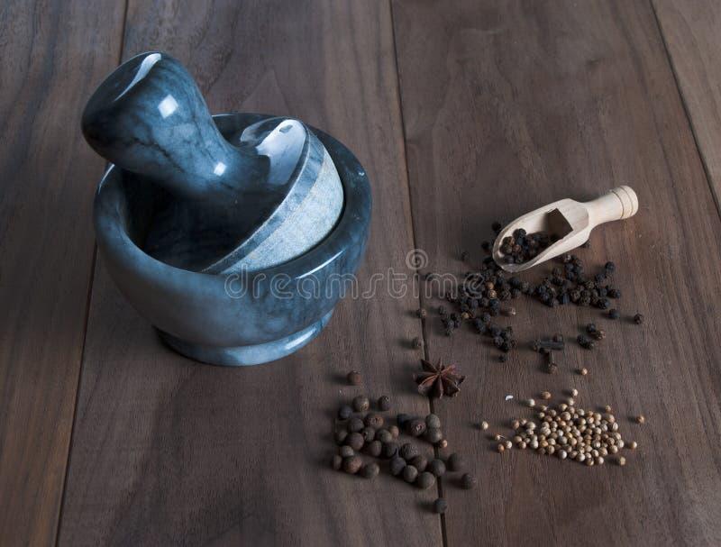 Kryddor och frö arkivfoto