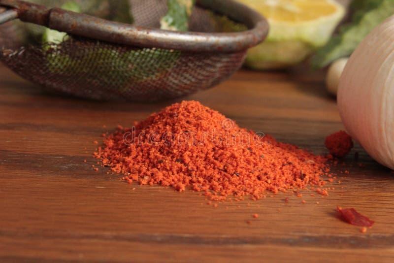 Kryddor och köksmaktillsats royaltyfri bild