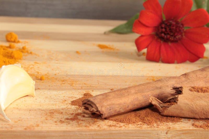Kryddor och köksmaktillsats arkivfoton