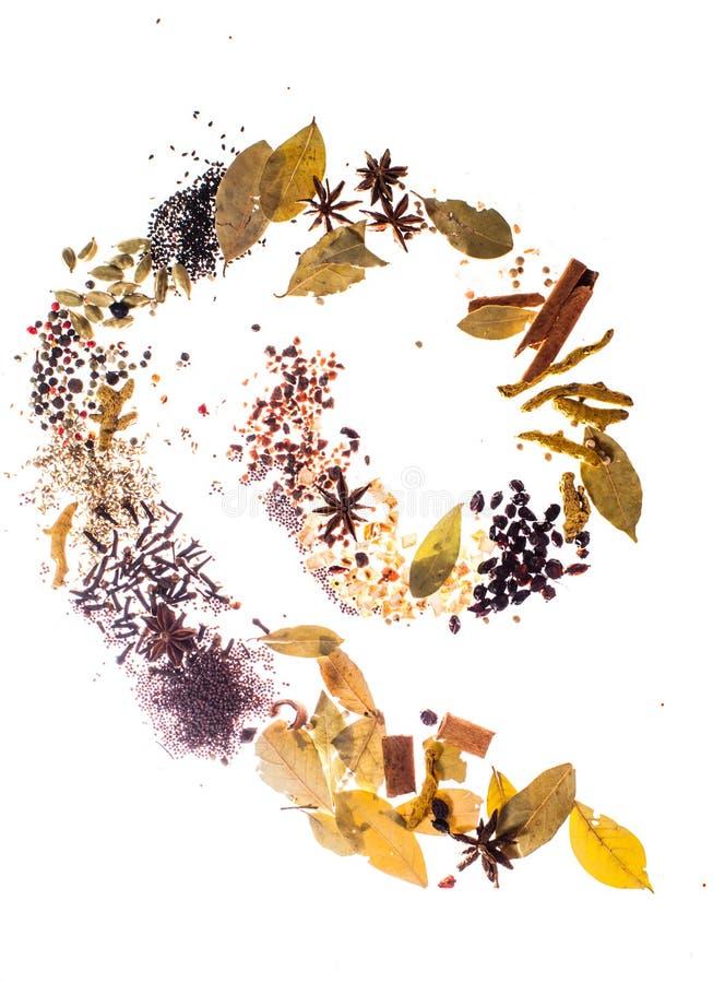 Kryddor sänker lekmanna- spiral arkivbilder