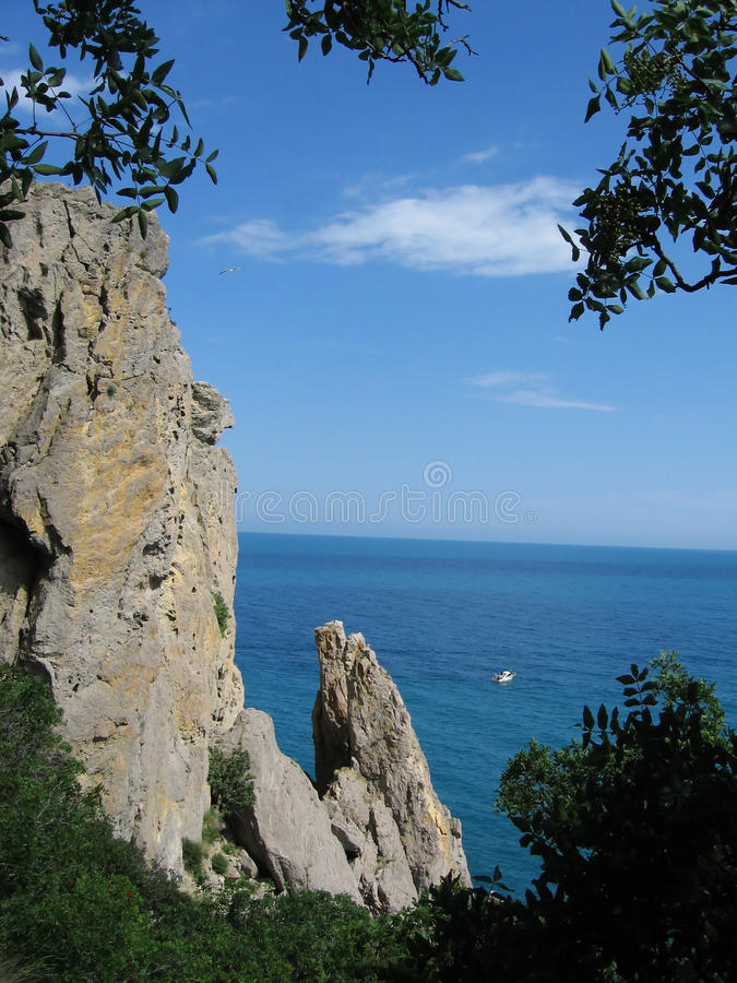 Krym morza czarnego fotografia royalty free