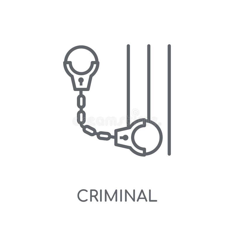 Kryminalna liniowa ikona Nowożytnego konturu logo Kryminalny pojęcie na wh ilustracja wektor