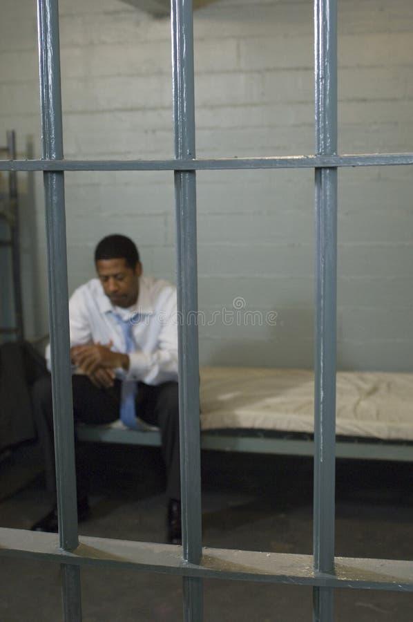Kryminalny obsiadanie W więzieniu zdjęcia stock