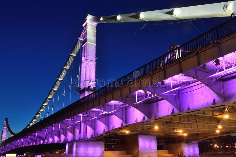 Krymskiy桥梁在莫斯科 库存图片