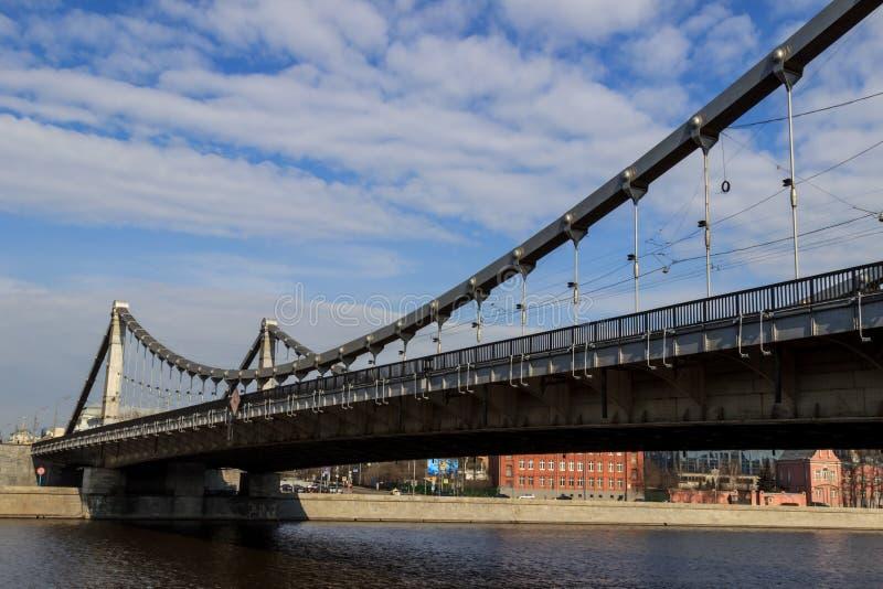 Krymskybrug in Moskou royalty-vrije stock foto