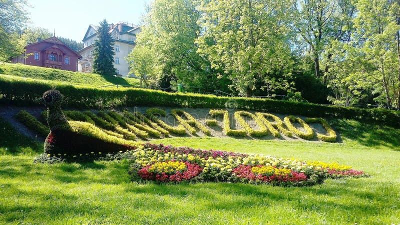 Krynica-Zdrà ³ j,波兰温泉珍珠,健康温泉渡假胜地在波兰 库存图片