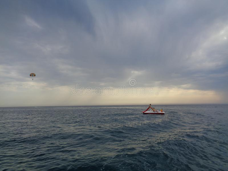 Holidays on the Black Sea coast. royalty free stock images