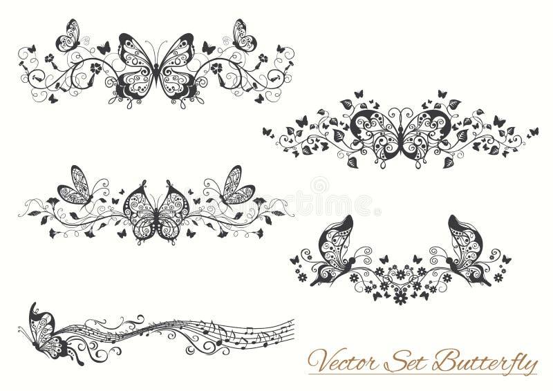 Kryp skissar samlingen för design och scrapbooking royaltyfri illustrationer