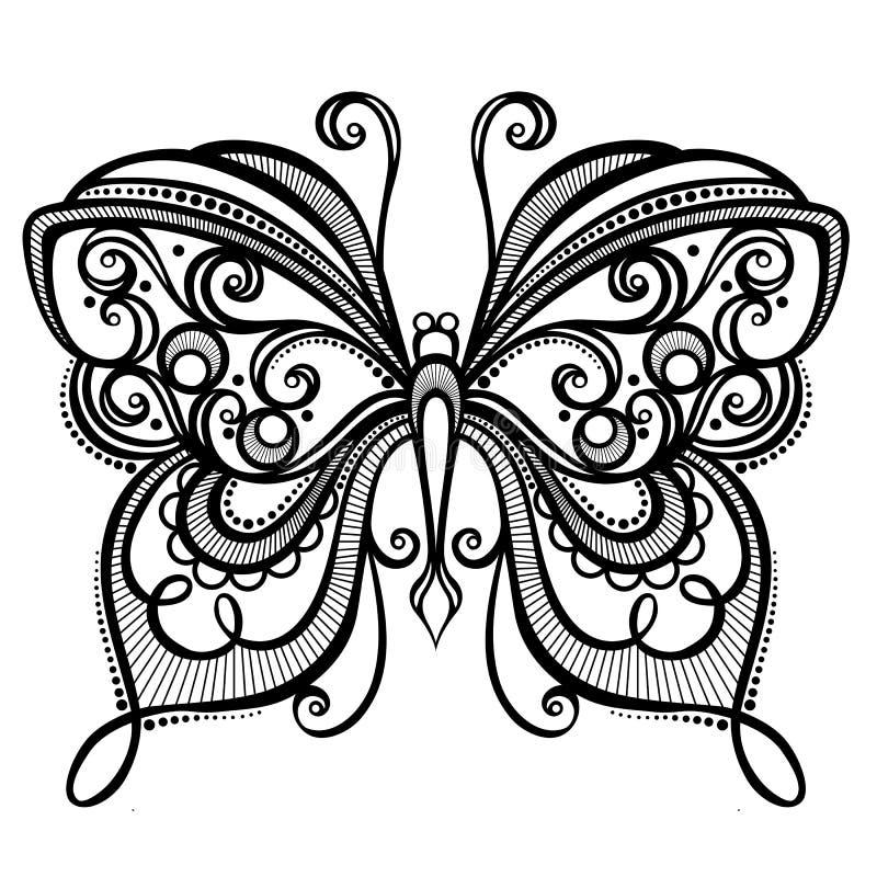 Krypfjäril royaltyfri illustrationer