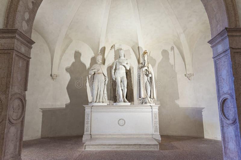 Krypta av Chiesa di Santa Corona, Vicenza - Italien arkivbild