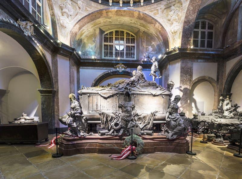 Krypta av de Habsburger konungarna i Wien arkivfoton