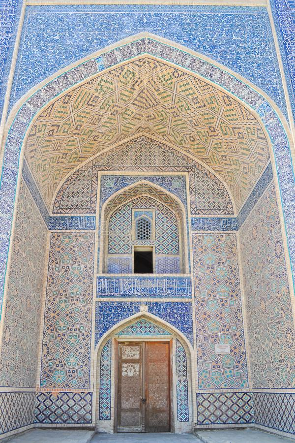 Krypta Khan Madrasah lokalizuje w dziejowej części Bukhara obrazy stock