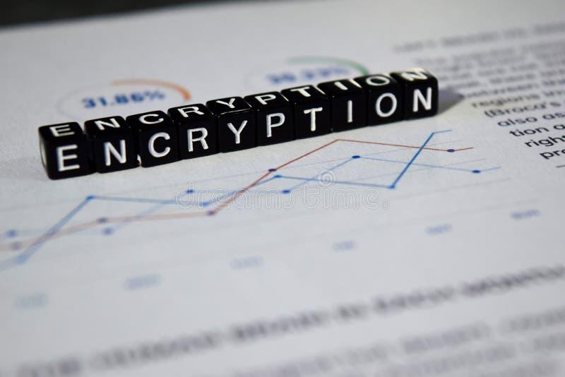 Kryptering på träkvarter Begrepp för Cyber för information om ingång nyckel- royaltyfria bilder
