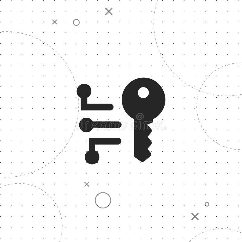 Kryptering symbol för vektor för nyckel- begrepp för kryptografi stock illustrationer