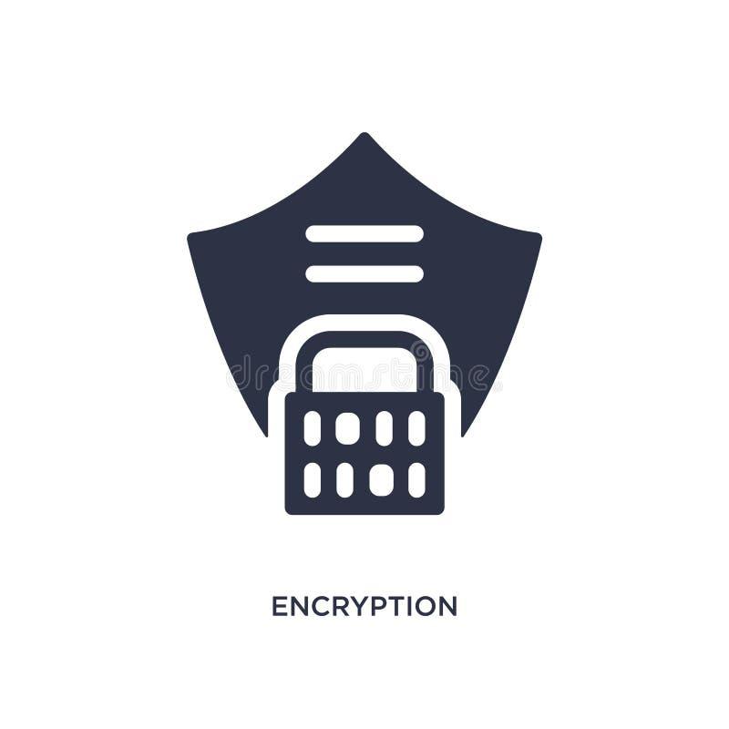 krypteringsymbol på vit bakgrund Enkel beståndsdelillustration från gdprbegrepp vektor illustrationer