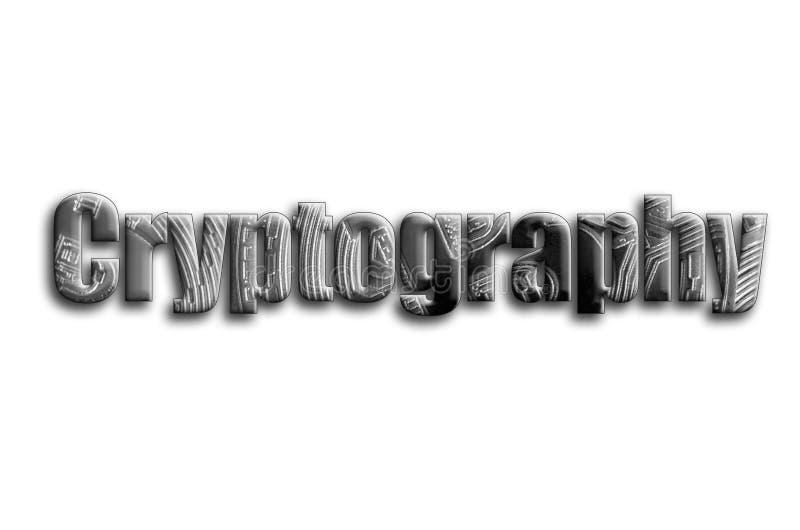 kryptografi Inskriften har en textur av fotografiet, som visar flera försilvrar bitcoins stock illustrationer