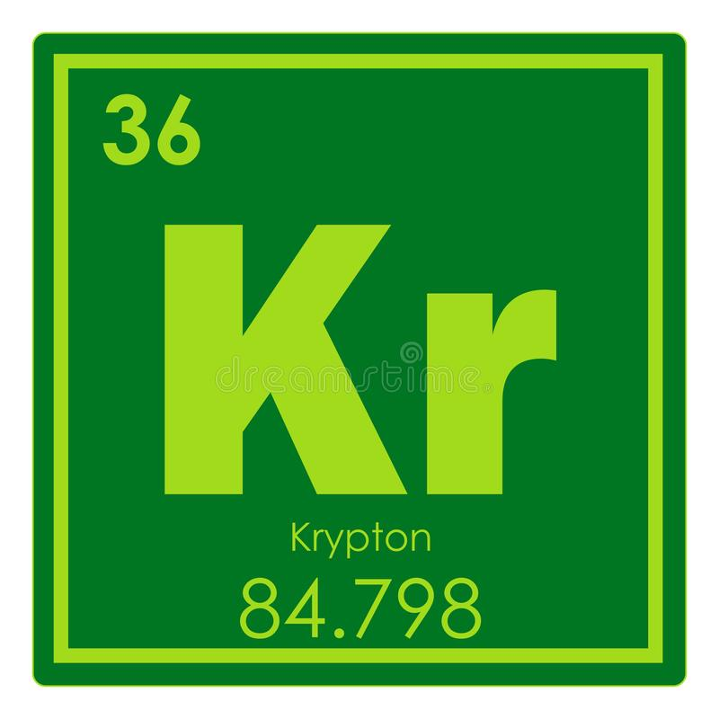 Krypton Chemical Element Stock Illustration Illustration Of Geek