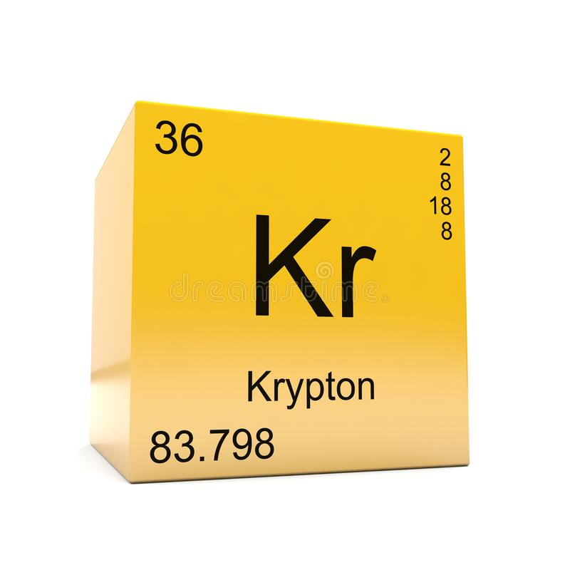 Krypton Chemical Element Symbol From Periodic Table Stock