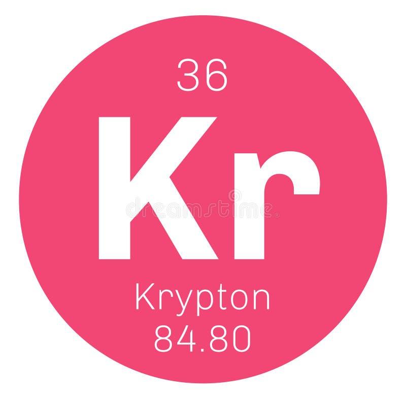 Krypton chemisch element vector illustratie