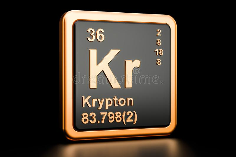 Krypton Kr Chemical Element 3d Rendering Stock Illustration