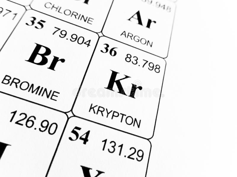 Krypton on the periodic table of the elements stock photo image of krypton on the periodic table of the elements urtaz Choice Image