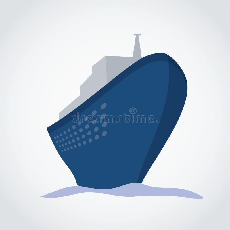 KryssningShip royaltyfri illustrationer