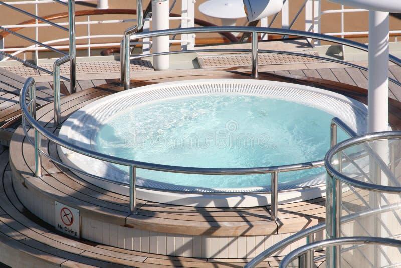 kryssningshipbubbelpool royaltyfria bilder