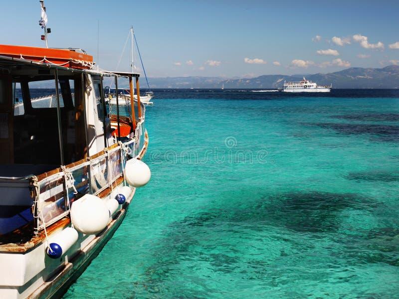 Kryssningskepp, Grekland arkivfoto