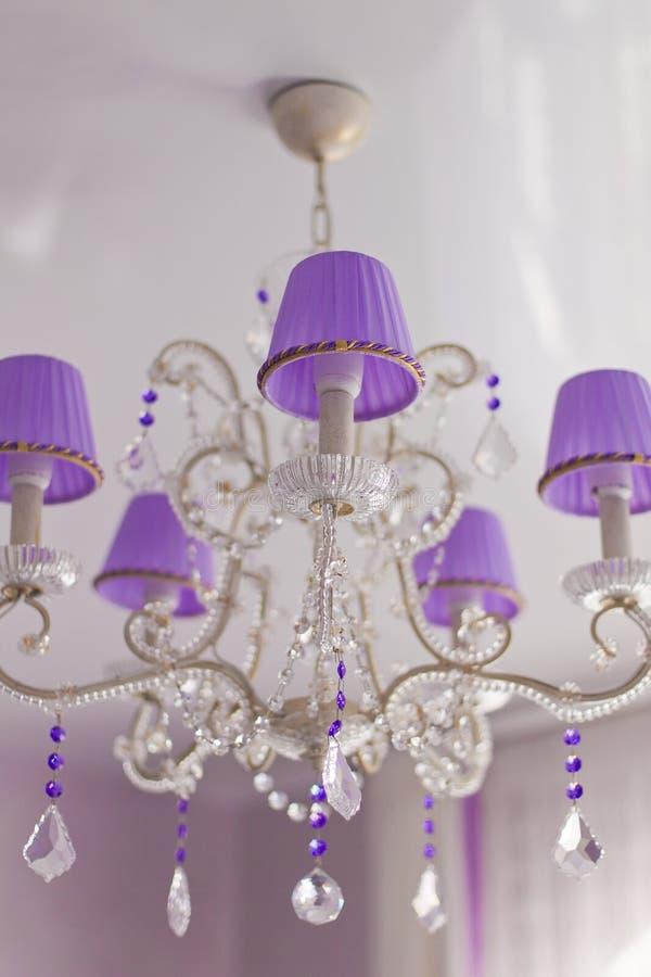 Krystaliczna ścienna lampa obrazy stock