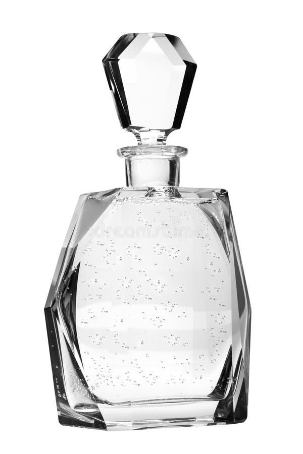 Krystaliczna butelka - dekantator zdjęcie stock