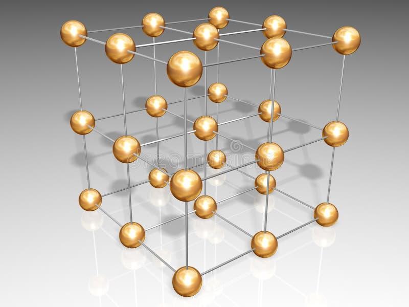 krystaliczna kratownica ilustracji
