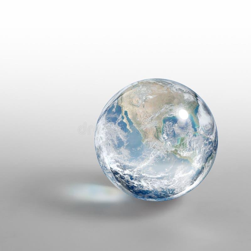 Download Krystaliczna kula ziemska zdjęcie stock. Obraz złożonej z przestrzeń - 33136848