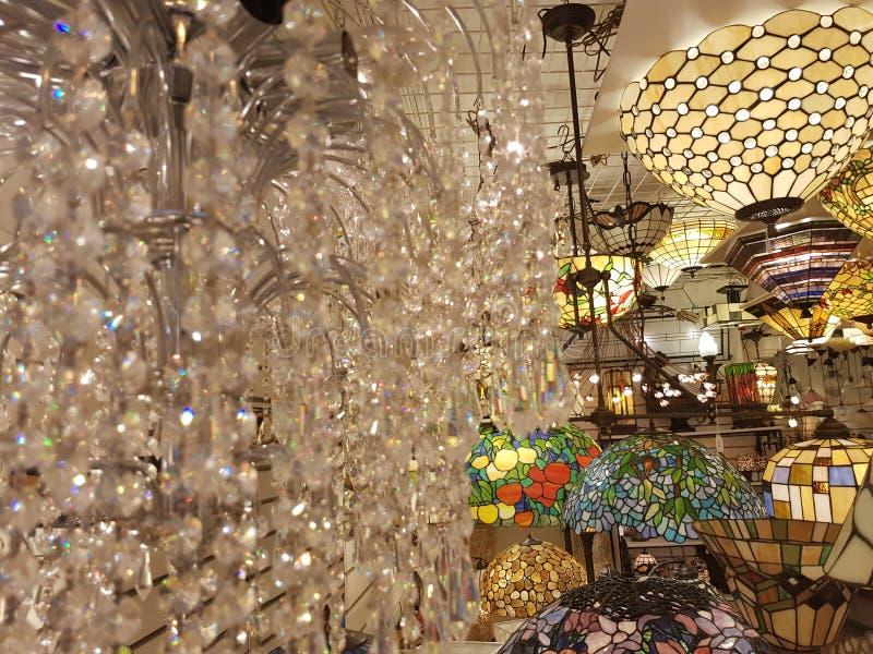 Krystaliczne lampy obraz royalty free