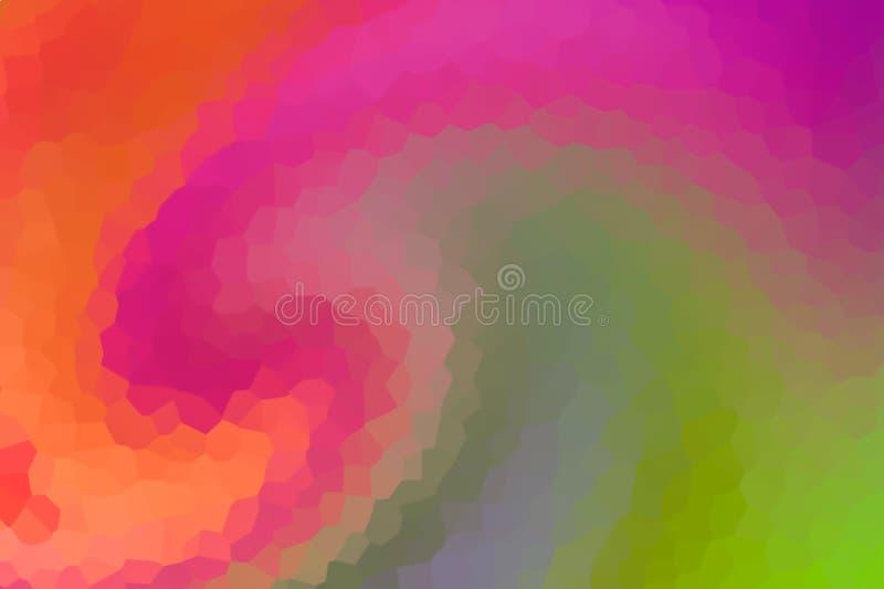 Krystaliczne tło kolorowe wielokątne tło trójkątne śnieżne wiele fragmentów panelowych, kolorowe różowe malinowe pomarańczowe, ba zdjęcia royalty free