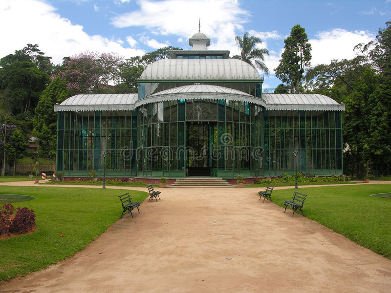 krystaliczni De Janeiro pałacu petropolis Rio. fotografia stock