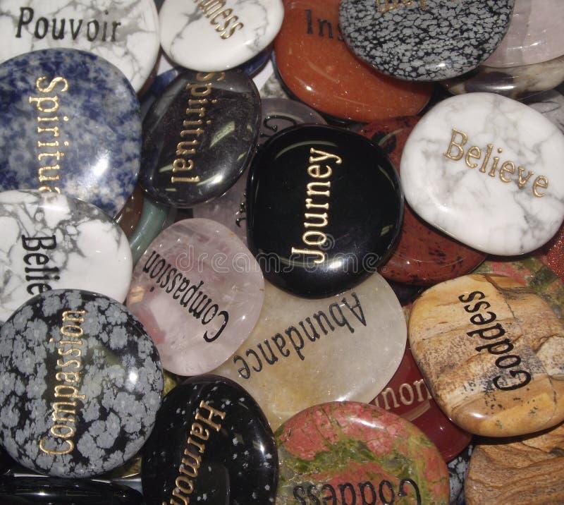 Krystaliczni palma kamienie zdjęcie royalty free