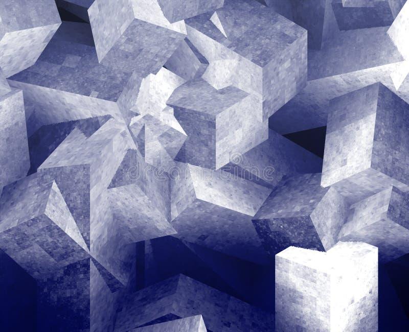 krystaliczni sześciany ilustracja wektor