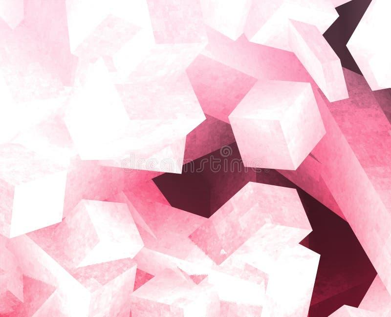 krystaliczni sześciany ilustracji