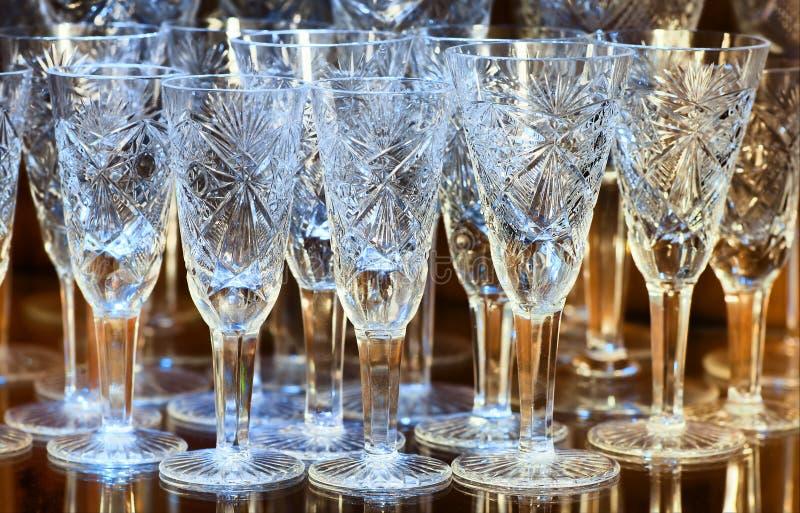 krystaliczni szkła fotografia royalty free