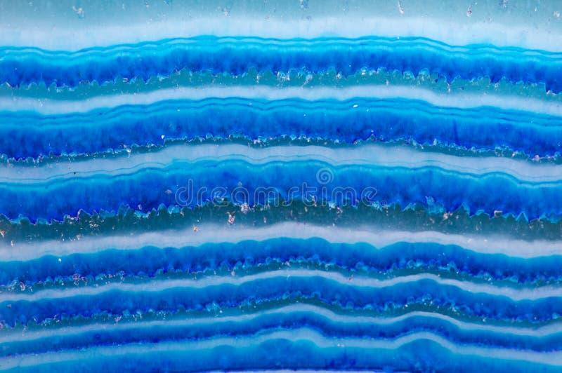 Krystaliczny Błękitny onyks Makro- obraz royalty free