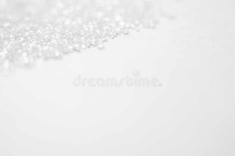 Krystaliczny biel z zamazanym światła tłem z copyspace obraz stock