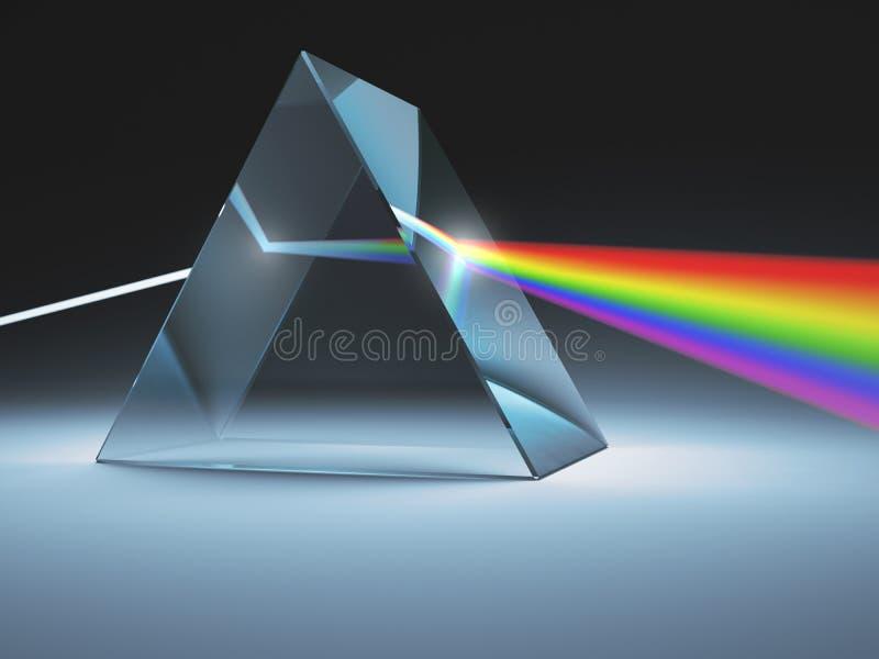 Krystaliczny graniastosłup ilustracja wektor