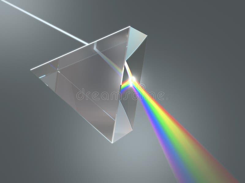 Krystaliczny graniastosłup royalty ilustracja