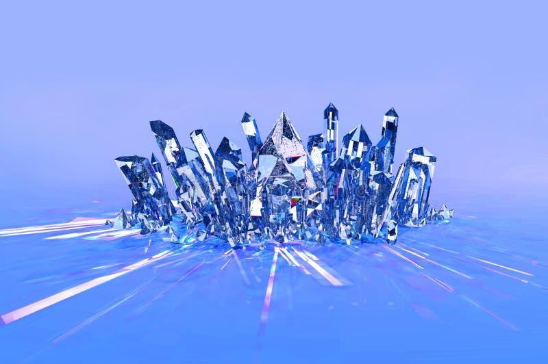 Krystaliczny grono - błękit obrazy stock
