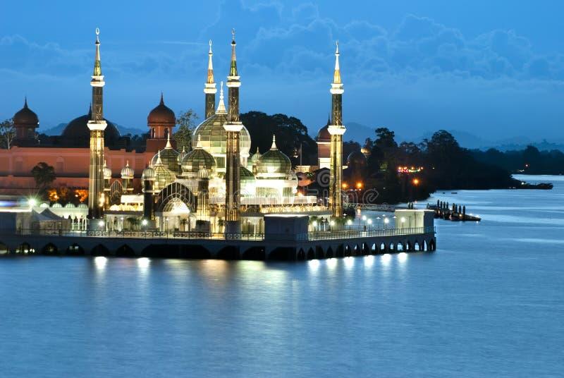 krystaliczny Kuala meczetu terengganu obrazy royalty free