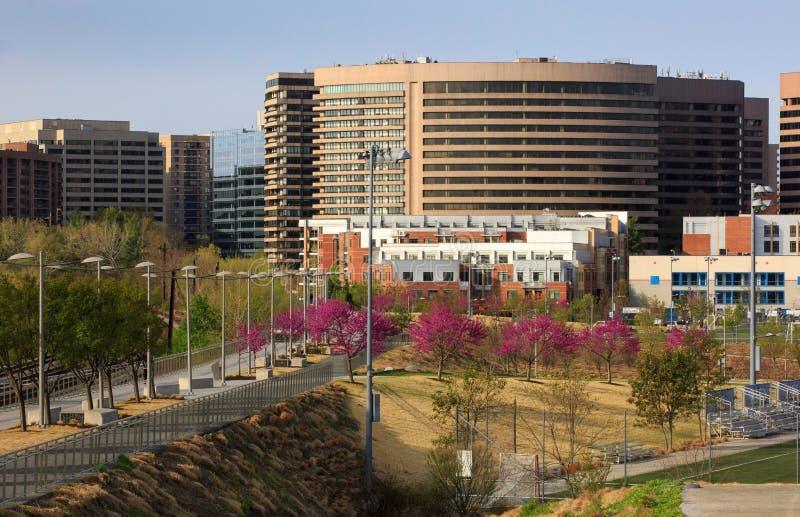 Krystaliczny miasta Arlington okręg administracyjny Virginia zdjęcie royalty free