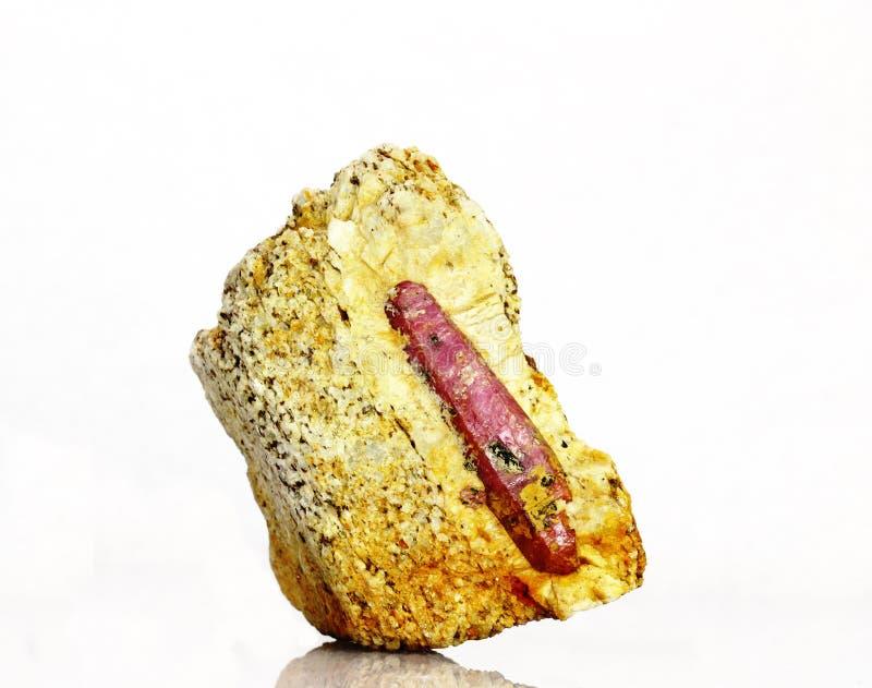 krystaliczny naturalny rubin obrazy stock