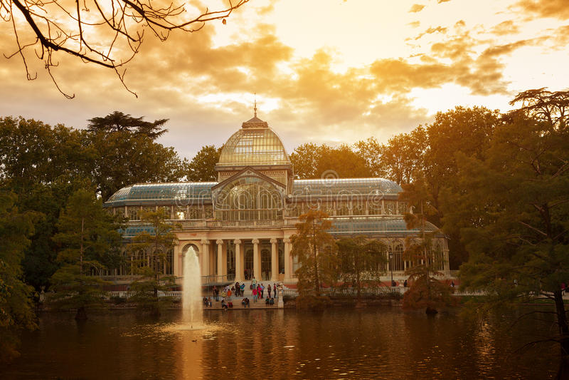 Krystaliczny pałac, Madryt fotografia stock